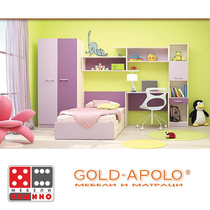 Детска стая Чарли /опция с две легла/ От Мебели Домино