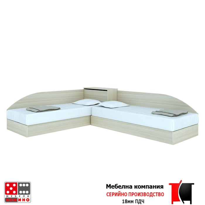 Ъглови легла с ракла и извити табли  От Мебели Домино
