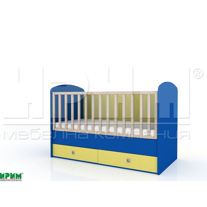 Бебешко легло БАМ-БАМ без механизъм за люлеене От Мебели Домино