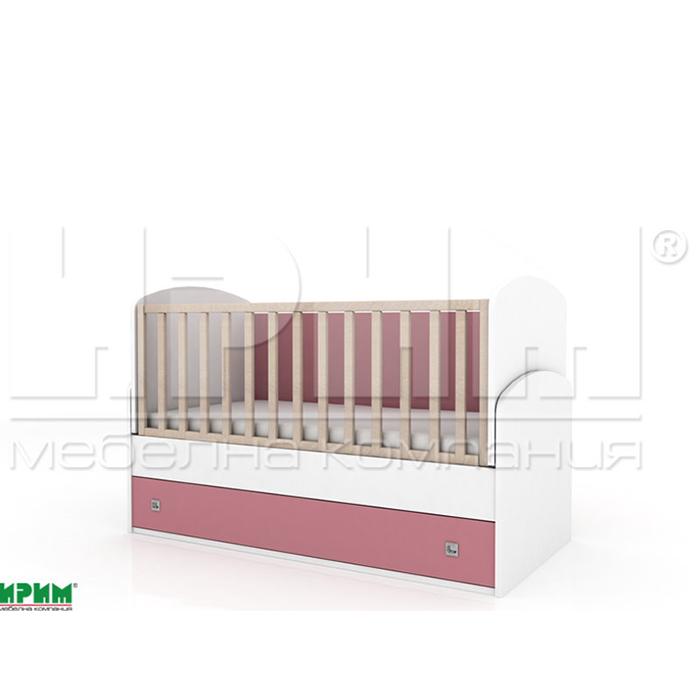 Бебешко легло Пебълс с механизъм за люлеене От Мебели Домино