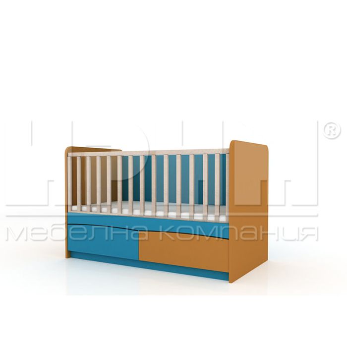 Бебешко легло Бибо без механизъм за люлеене От Мебели Домино