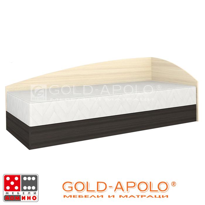 Легло Аполо 3 тъмен дъб/пясъчен дъб От Мебели Домино