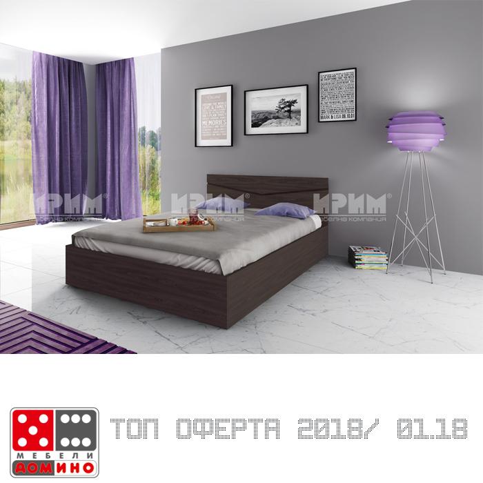 Легло спалня Сити 175 От Мебели Домино