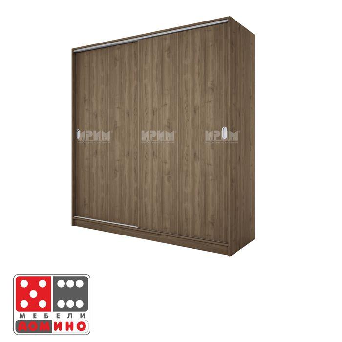 Двукрилен гардероб Сити 278 с плъзгащи врати От Мебели Домино