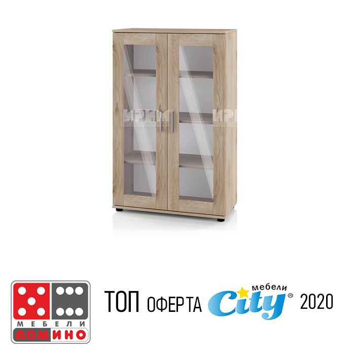 Шкаф витрина модул Сити 343 От Мебели Домино