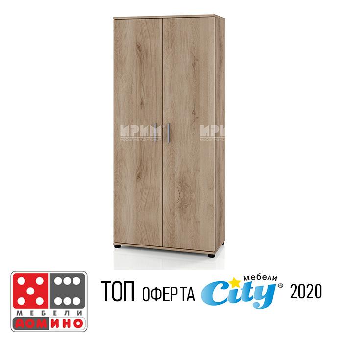 Висок шкаф модул Сити 344 От Мебели Домино