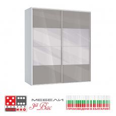 Трикрилен Гардероб M013 E От Мебели Домино