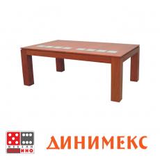 Холна маса Сантал + стъкло От Мебели Домино