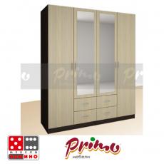 Четирикрилен гардероб  Примо 104 От Мебели Домино