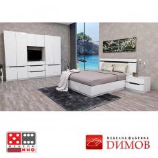 Спално обзавеждане Сити 494 От Мебели Домино