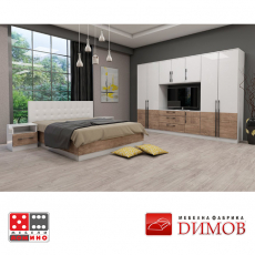 Модул Дамяна М 020 А гардероб От Мебели Домино