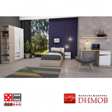 Модул Дамяна М 021 А гардероб с огледало От Мебели Домино