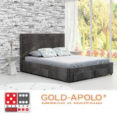 Луксозна кожена спалня Mirelli От Мебели Домино