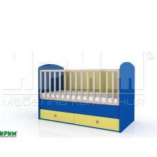 Бебешко легло БАМ-БАМ без механизъм за люлеене От
