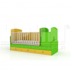 Бебешка кошара Уоли с механизъм за люлеене От Мебели Домино