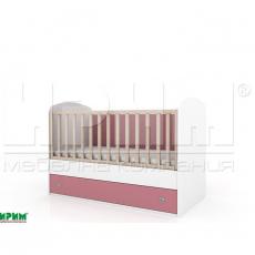 Бебешко легло Пебълс без механизъм за люлеене От Мебели Домино