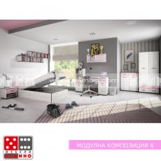 Модулна композиция Мики 6 От Мебели Домино