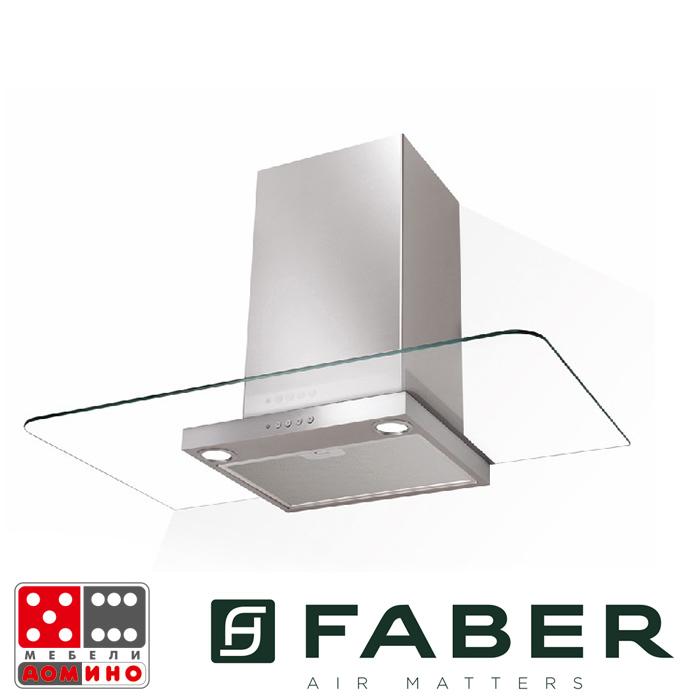 Декоративен aспиратор инокс и стъкло NICE(7422082FABERNICE)