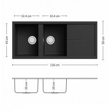 Кухненска мивка UNICO PLUS 116.2 SI От