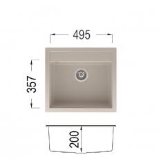 Кухненска мивка Серия GRANCOLOR Alex 565 От Мебели Домино