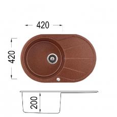 Кухненска мивка Серия GRANCOLOR KARINA 780 От Мебели Домино