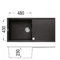 Кухненска мивка Серия TEKNO 480 От
