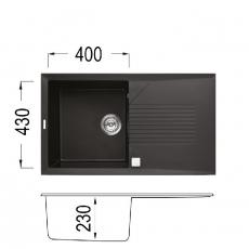 Кухненска мивка Серия TEKNO 400 От Мебели Домино
