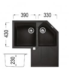 Кухненска мивка Серия TEKNO CORNER От Мебели Домино