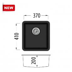 Кухненска мивка серия Grancolor HIDE 420 От Мебели Домино