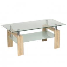 Стъклена маса за кафе Tedi S От Мебели Домино