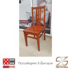 Трапезен стол Ареа с дървена седалка От Мебели Домино