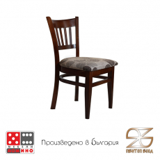 Трапезен стол Боби натурален От Мебели Домино