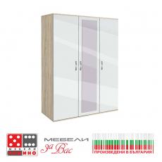 Двукрилен гардероб Сити 1011 с плъзгащи врати От Мебели Домино