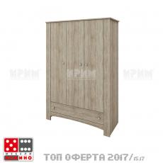 Трикрилен гардероб Сити 1016 От
