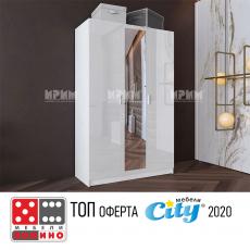 Двукрилен гардероб Сити 481 с плъзгащи врати От Мебели Домино