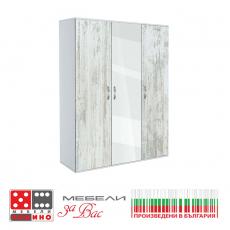 Трикрилен гардероб Сити 482 с плъзгащи врати От Мебели Домино