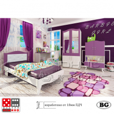 Детска стая Барби От Мебели Домино