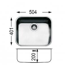 Кухненска мивка за вграждане под плот Ferrara FE 500 От Мебели Домино